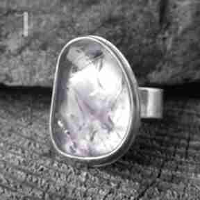 Kandela - srebrny pierścień z ametrynem miechunka srebro, 925