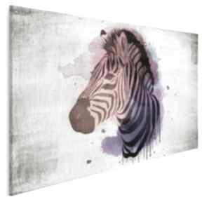VAKU DSGN Obraz na płótnie - KOLOROWA ZEBRA - 120x80 cm