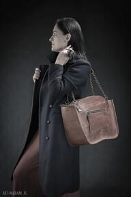 Kuferek ręcznie robiona torba z łańcuchami od ladybuq art studio