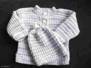 "Komplecik ""melanżowy"" gaga art komplet, niemowlę, sweterek"