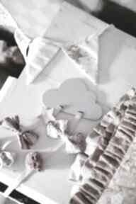 Drewniany organizer na spinki szara chmurka pokoik dziecka groko