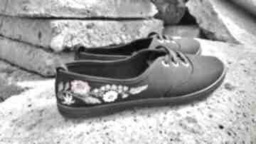 buty! tenisówki pieniny malowane zboża niezapominajki