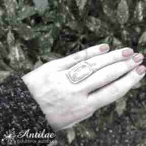 Pięknie wybarwiony rodonit, pierścionek rozmiar regulowany