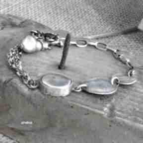 Perła - bransoletka 013 arvena srebro oksydowane, perły, z-perłą