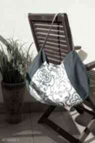 Worek na ramię - ornamentowy happyart torba, codzienna, miejska
