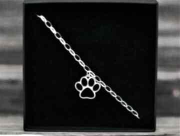 Łapa łapka - bransoletka kot pies pasja i pedzlem pies, kot