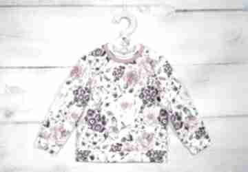 Bluza rose lilla bluza, kwiaty, bez kaptura, rozmiar 92, róże