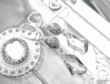 Ekskluzywne ręcznie robione kolczyki - srebro, mozaika