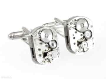 Spinki - squares ii do mankietów drobinyczasu spinki, biżuteria