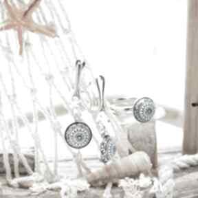 Przepiękny minimalistyczny komplet biżuterii srebrnej silvella