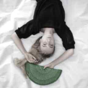 Torebka pierożek zielony - kopertówka barska półksiężyc,