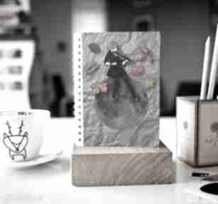 Notes a5 notesy parallel world zeszyt, a5, kobieta, liście