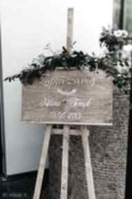 Tablica powitalna na wesele witająca gości ślub hagal tablica