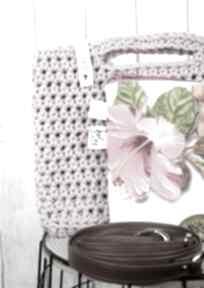 Looped brudny róż torebki just catch handmade szydełko, crochet