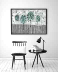 Plakat 60x90cm malgorzata domanska plakat, obraz, drzewa