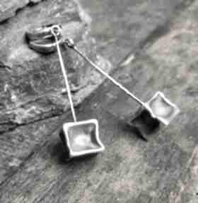 Treendymetaloplastyka srebro-oksydowane kolczyki-na-prezent