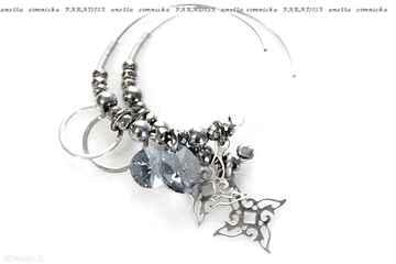 Srebro, kolczyki - lazurowe kryształy swarovskiego anetta