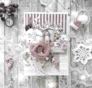 Świąteczne prezenty! Kartka świąteczna w czerwieni scrapbooking