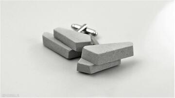 Męskie spinki do mankietów ingray minimalistyczny, beton
