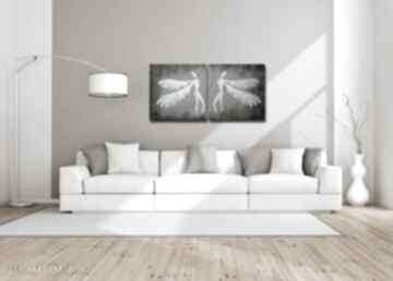 Anioły szczęścia - a16 xxl 140x70cm obraz duży na płótnie