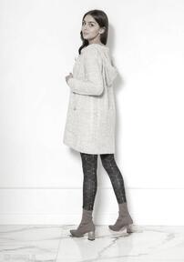 swetrysweter płaszcz-swetrowy wyjściowy z-kieszeniami z-kapturem