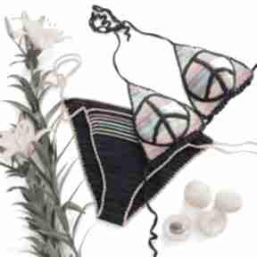 Tęczowy z pacyfką bielizna mondu tęczowy, kostium, bikini