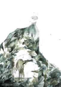 Zielona sukienka akwarela artystki plastyka adriany laube