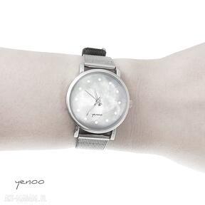 Zegarek, bransoletka - szary mały zegarki yenoo bransoletka