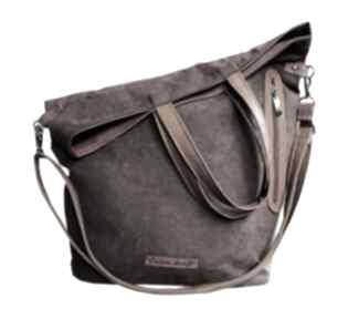 Torba brązowy zamsz torebki czechdraft torba, zamsz, duża