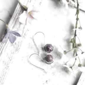 Srebrne kolczyki niezwykły jaspis cesarski silvella srebro