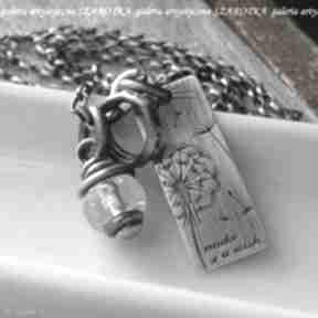 Pomyśl życzenie naszyjnik z kryształu górskiego i srebra