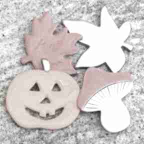 Zestaw magnesów magnesy pracownia ako jesień, liście, grzybek