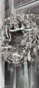 Wianek wielkanocny wiosenny na drzwi dekoracje cynamonn