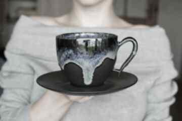 Filiżanka ceramiczna morska czarny mat 270 ml ceramika ciepliki