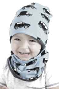 Czapka niebieskie autka giggi czapka,