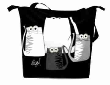 Toba na zamek z motywem kotów ramię gaul designs kot, koty, xxl