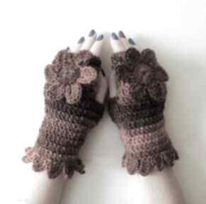 Mitenki złociste rękawiczki izabelaart1 ciepłe, modne,