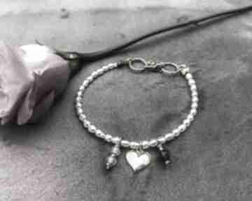 Bransoletka z perłami zgustem perły, z-perłami, srebro złocone