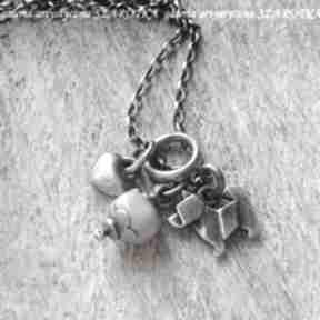 Love my dog naszyjnik z opala i srebra naszyjniki szarotka opal