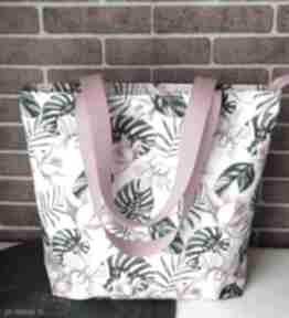 Torebka damska wodoodporna shopper bag na ramię do ręki torba