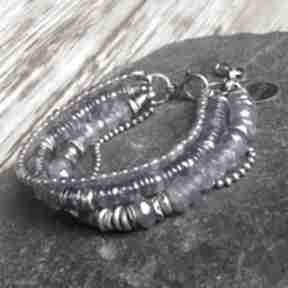 Bransoletka srebrna z ametystami treendy metaloplastyka, srebro
