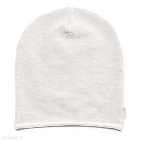 Czapka beanie dres grey powder pink melange czapki