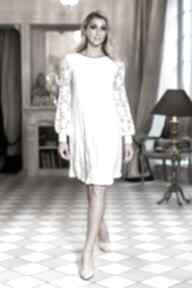 Sukienka crystal sukienki pawel kuzik cywilny, ślub, koronkowa