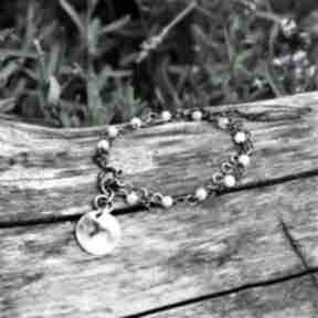 Morganit z blaszką magdalena markowicz morganit, bransoletka