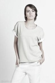 Bluzka, blu104 beż bluzki lanti urban fashion top, casual, boxy