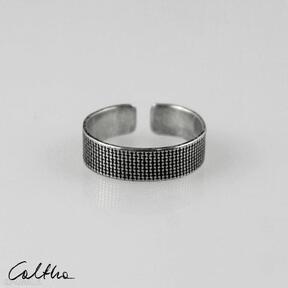 Płótno - srebrna obrączka 191020 -12 obrączki caltha