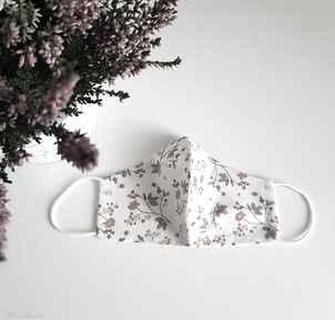 Maseczka bawełniana kobieca listeczki maseczki maart madeczka