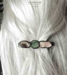Galeria Limart. spinka klamra bursztyn unikat włosy prezent