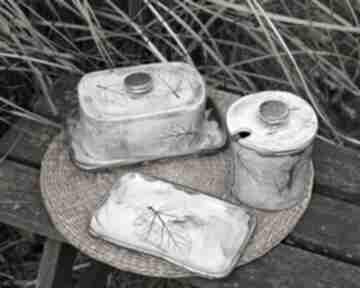 Cukiernica, maselnica - zestaw do jadalni ceramika enio art