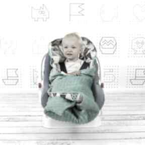 Duży kocyk do fotelika tipi dla dziecka nuvaart kocyk, fotelika